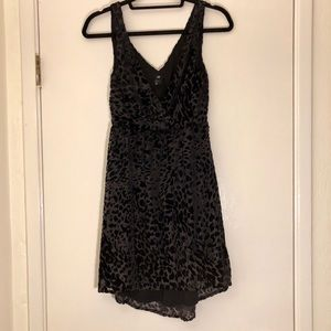 H&M sexy velvet/sheer black dress. Size 4.